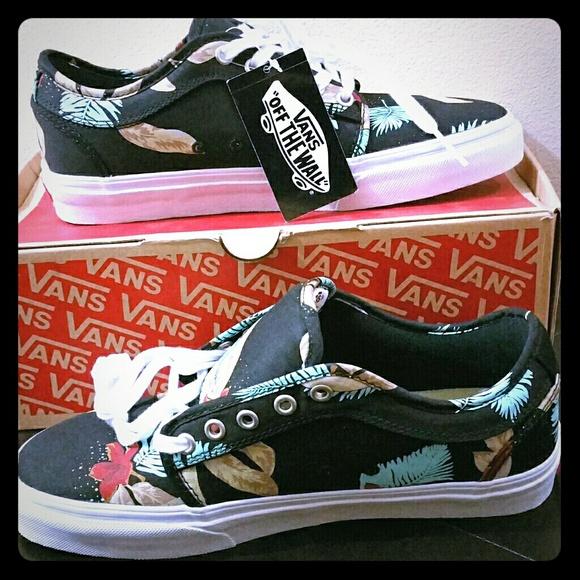 b71318b48d Vans Chukka Low Aloha Black Pro Skate Shoes 8.0